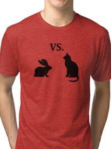 bunny vs cat  Tri-blend T-Shirt