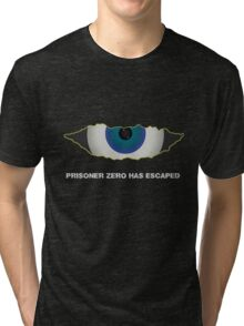 Prisoner Zero Has Escaped. Tri-blend T-Shirt