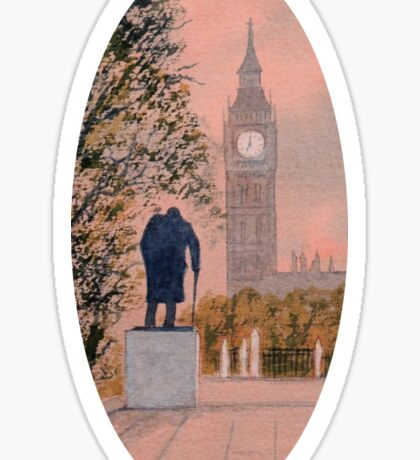 Big Ben and Winston Churchill Sticker