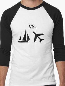 boat vs plane  Men's Baseball ¾ T-Shirt