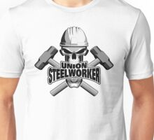 Union Steelworker Skull and Sledge Hammers Unisex T-Shirt