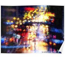 Rainy Night in the City Poster