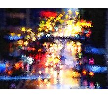 Rainy Night in the City Photographic Print