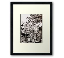 in her own little world.... Framed Print