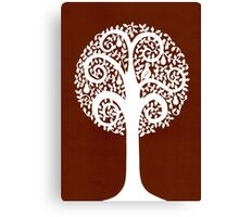 partridge in a pear tree - brown Canvas Print