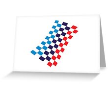 M checkered design Greeting Card