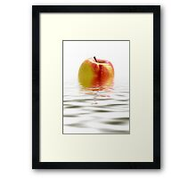 Apple Afloat Framed Print