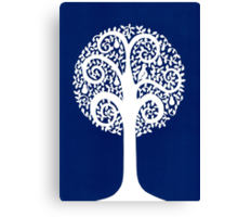 partridge in a pear tree - blue Canvas Print