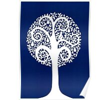 partridge in a pear tree - blue Poster