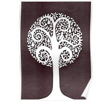 partridge in a pear tree - grey Poster