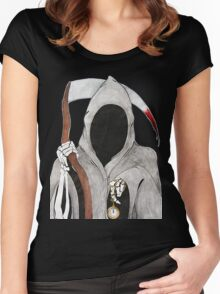 Death is Ticking Women's Fitted Scoop T-Shirt