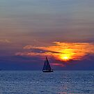 Sunsets 10 - Sailing by Debbie  Maglothin