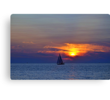 Sunsets 10 - Sailing Canvas Print