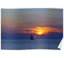 Sunsets 10 - Sailing Poster