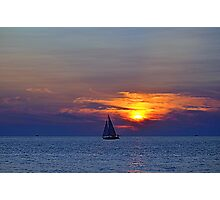 Sunsets 10 - Sailing Photographic Print