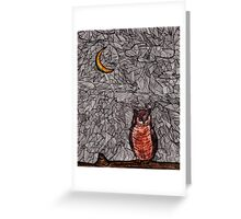 Owl and the Moon Greeting Card