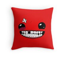Super meat boy Throw Pillow