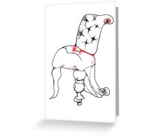 Let Me Be Your Quirky Chair Greeting Card