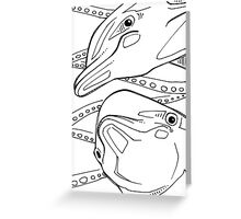 Bottlenose dolphin, coloring book image Greeting Card