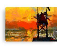 Sunset on Atlantic Ocean Canvas Print