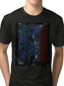 USGS TOPO Map Guam Talofofo 462411 2000 24000 Inverted Tri-blend T-Shirt