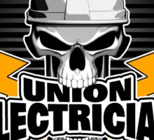Union Electrician: Skull and Thunderbolts Sticker