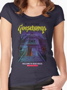 Goosebumps Welcome to the Dead House Women's Fitted Scoop T-Shirt