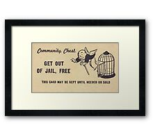 """Monopoly """"Get Out of Jail"""" Framed Print"""