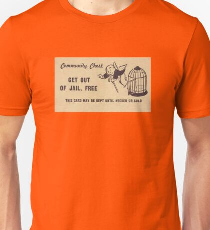 """Monopoly """"Get Out of Jail"""" Unisex T-Shirt"""