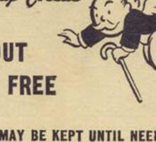 """Monopoly """"Get Out of Jail"""" Sticker"""