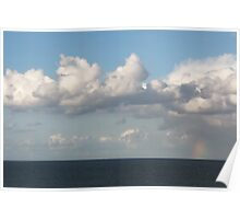 Rainbow Over The Ocean, Mundesley, Norfolk, England Poster