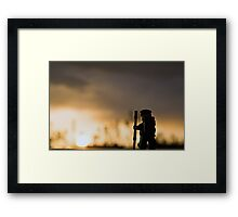 Sunset Hike Framed Print