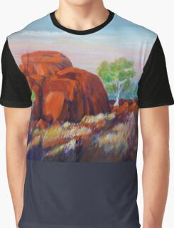 Devils Marbles Morning  Graphic T-Shirt