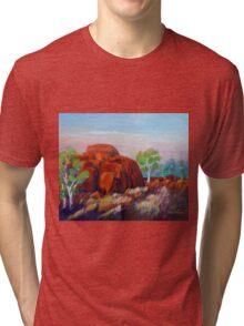 Devils Marbles Morning  Tri-blend T-Shirt