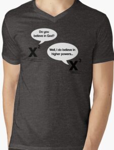 Maths - Do you believe in God? Mens V-Neck T-Shirt