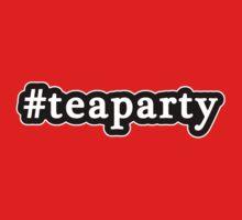 Tea Party - Hashtag - Black & White by graphix