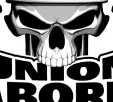 Union Laborer: Skull and Sledge Hammers Sticker