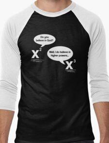 Maths - Do you believe in God? Men's Baseball ¾ T-Shirt