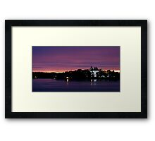 A Boldt Castle Evening Framed Print