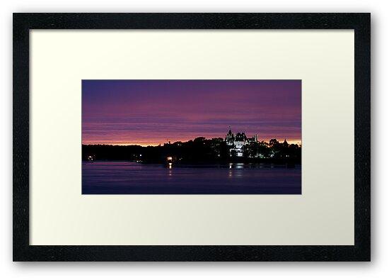 A Boldt Castle Evening by Dan Phelps