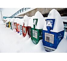 It Snowed in Manassas Photographic Print