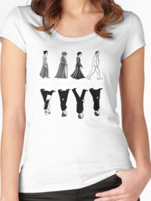 Downton Abbey Road Women's Fitted Scoop T-Shirt