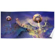 Valley of Indecision, Pop Surrealism, Alma Lee Poster