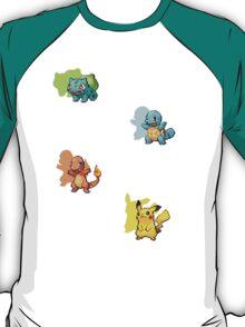 Starter Pokemon Colour Shadow Shirt T-Shirt