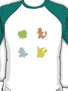 Starter Pokemon Silhouette T-Shirt