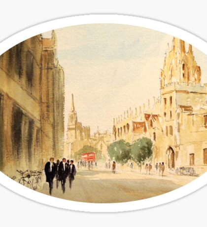 Oxford Students In The High Street Sticker