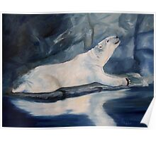 Praying Polar Bear Original Oil Painting Poster