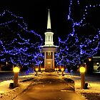 Christmas, lights, church by fine-art-prints