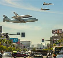 Endeavour shuttle moving, Los Angeles CA by fine-art-prints