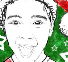 Young Santa Tee Sticker